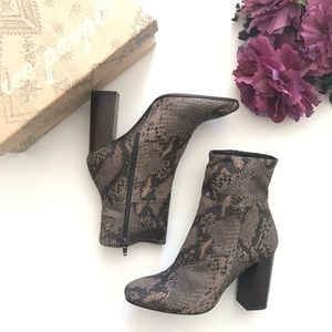 Free People Nolita Snake Embossed Leather Boot NWB